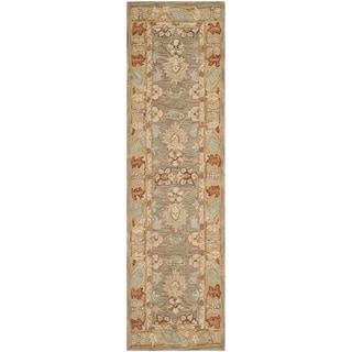 Safavieh Hand-made Anatolia Brown/ Camel Wool Rug (2'3 x 8')