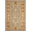 Safavieh Hand-made Anatolia Brown/ Camel Wool Rug (5' x 8')