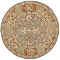 Safavieh Hand-made Anatolia Brown/ Camel Wool Rug (6' Round)
