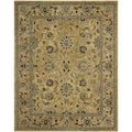 Safavieh Hand-made Anatolia Golden Pear/ Smoke Wool Rug (9' x 12')