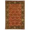 Safavieh Hand-made Anatolia Red/ Navy Wool Rug (4' x 6')