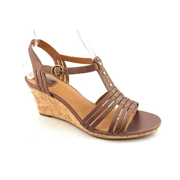 Clarks Women's 'Laguna Cove' Bronze Leather Wedge Sandals