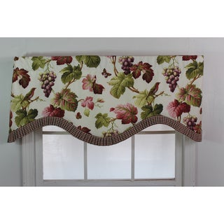 'Shannon' Coral Pattern Cornice Valance