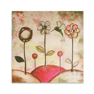 'Km Daydreams Flowers' 18x18-inch Wall Art