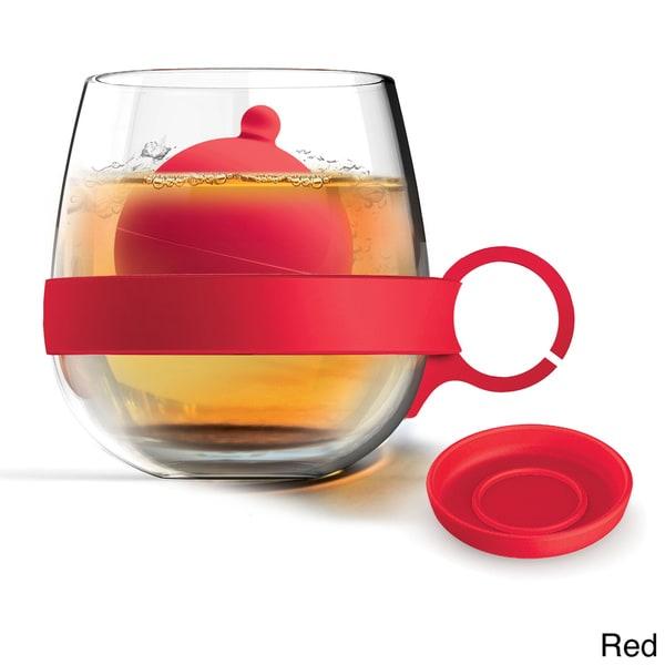Glass Mug with Silicone Tea Ball Diffuser