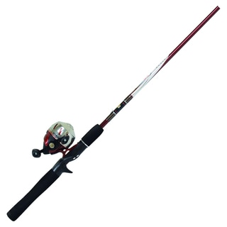 Zebco Stainless Steel 2-Piece Medium 202 Spincast Combo Rod and Reel
