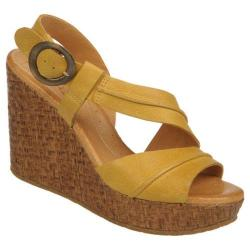 Women's Naya Estra Hot Mustard Souvage Leather