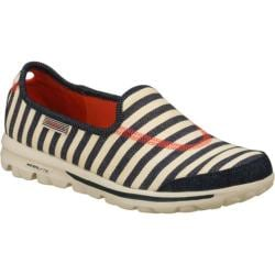 Women's Skechers GOwalk Americana Natural/Navy