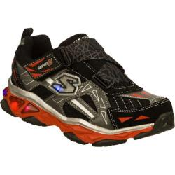 Boys' Skechers S Lights Galvanized Black/Gray
