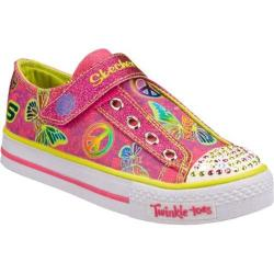 Girls' Skechers Twinkle Toes Shuffles Glow Girl Pink/Green
