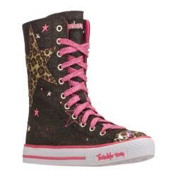 Girls' Skechers Twinkle Toes Shuffles Wild Spark Black/Pink