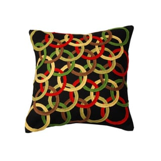 Layered Circles Decorative Down Pillow