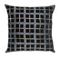 Black and Grey Square16-inch Decorative Pillow