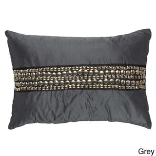 Metal Studs Rectangular Decorative Pillow