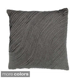 Layered Felt Wool 20-inch Decorative Pillow