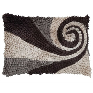 Mutli Rouched 14x20-inch Decorative Down Pillow