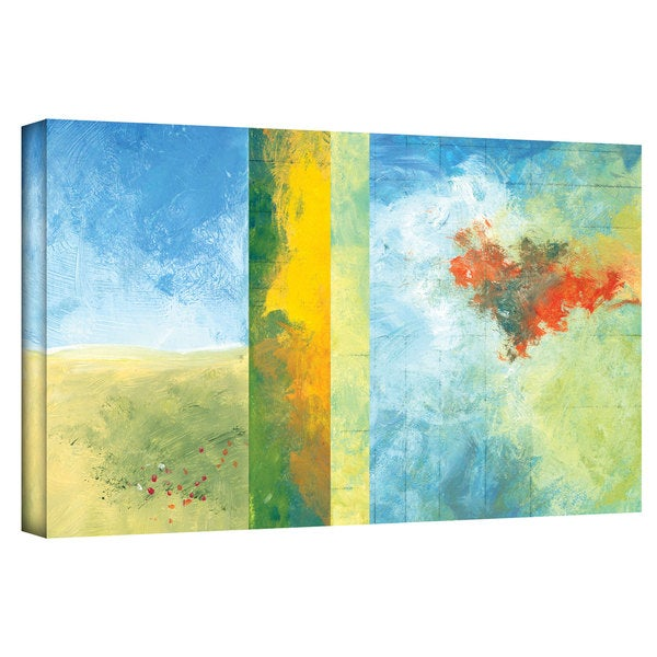 Jan Weiss 'Textured Earth Panel IV' Gallery-wrapped Canvas Art 22107077