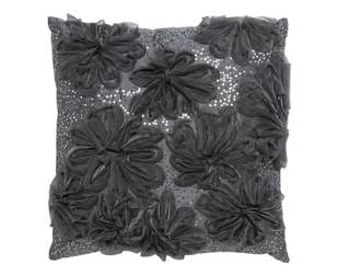 Organza Sequin Flower Decorative Down Pillow
