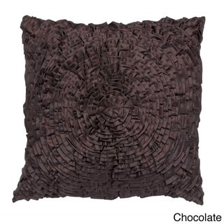 Rouched Flower Decorative Pillow