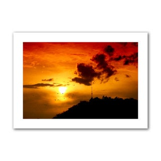 Dragos Dumitrascu 'Red Sky' Unwrapped Canvas Art