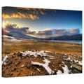 Dragos Dumitrascu 'The Winter Sun' Gallery-wrapped Canvas Art
