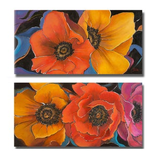 Patricia Pinto 'Exotic Flowers I and II' 2-piece Canvas Art Set