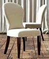 'Hannah' Saddle Back Leatherette Dining Chairs (set of 2)