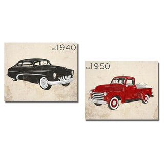 SD Graphics 'Vintage Coupe and Pick-up' 2-piece Canvas Art Set