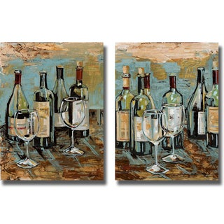 Heather French-Roussia 'Wine I and II' Canvas Art