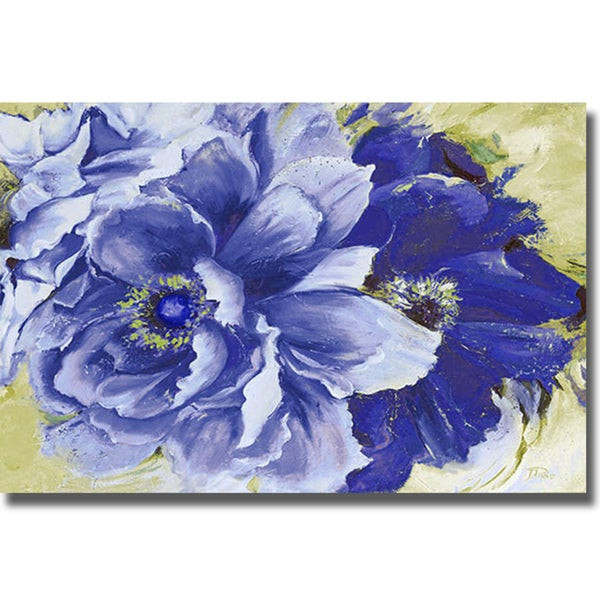 Patricia Pinto 'Beautiful Peonies in Indigo' Canvas Art