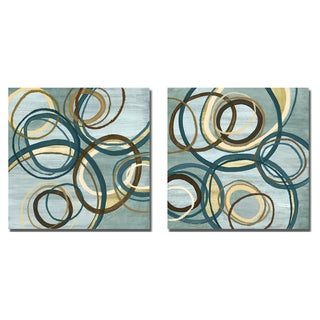 Jeni Lee 'Blue Tuesday I and II' 2-piece Canvas Art Set