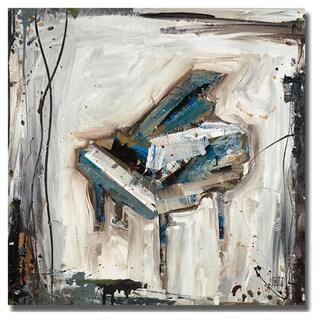 Kelsey Hochstatter 'Imprint Piano' Canvas Art