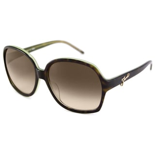 Fendi Women's FS5203 Rectangular Tortoise-Green Sunglasses