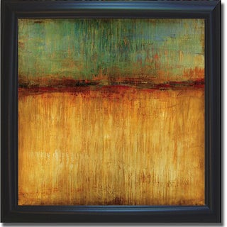 Liz Jardine 'Desert Sunset' Framed Canvas Art