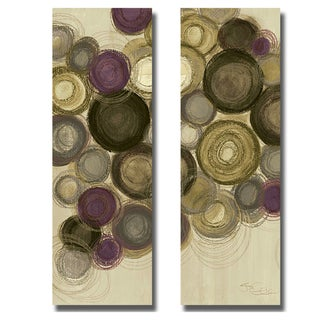 Jeni Lee 'Purple Whimsy Panel III and IV' 2-piece Canvas Art Set