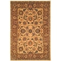 Safavieh Hand-made Classic Ivory/ Red Wool Rug (6' x 9')