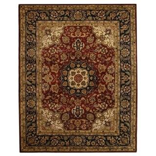 Safavieh Hand-made Classic Burgundy/ Navy Wool Rug (11' x 15')