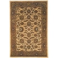 Safavieh Hand-made Classic Ivory/ Red Wool Rug (8'3 x 11')