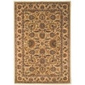 Safavieh Hand-made Classic Light Green/ Ivory Wool Rug (9'6 x 13'6)
