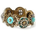 Sweet Romance Bronzetone Collected Treasures Bracelet