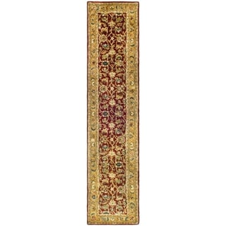 Safavieh Hand-made Classic Rust/ Camel Wool Rug (2'3 x 12')