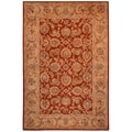 Safavieh Hand-made Classic Rust/ Camel Wool Rug (9'6 x 13'6)