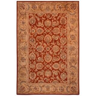 Safavieh Hand-made Classic Rust/ Camel Wool Rug (9'6 x 13'6)