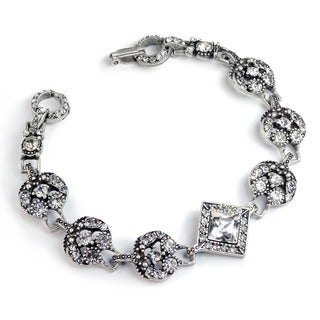 Sweet Romance Art Deco Diamond Harlequin Wedding Bracelet