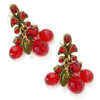 Sweet Romance Bronzetone Cherries Jubilee Earrings