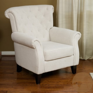 Christopher Knight Home Franklin Tufted Light Beige Fabric Club Chair