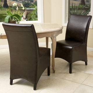 Gilmore Brown Leather Dining Chairs (Set of 2)