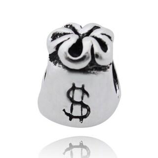 De Buman Sterling Silver Money Purse Charm Bead