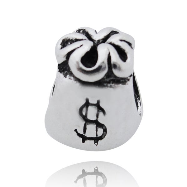 De Buman Sterling Silver Money Purse Charm Bead