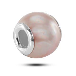 De Buman Sterling Silver Pink Charm Bead